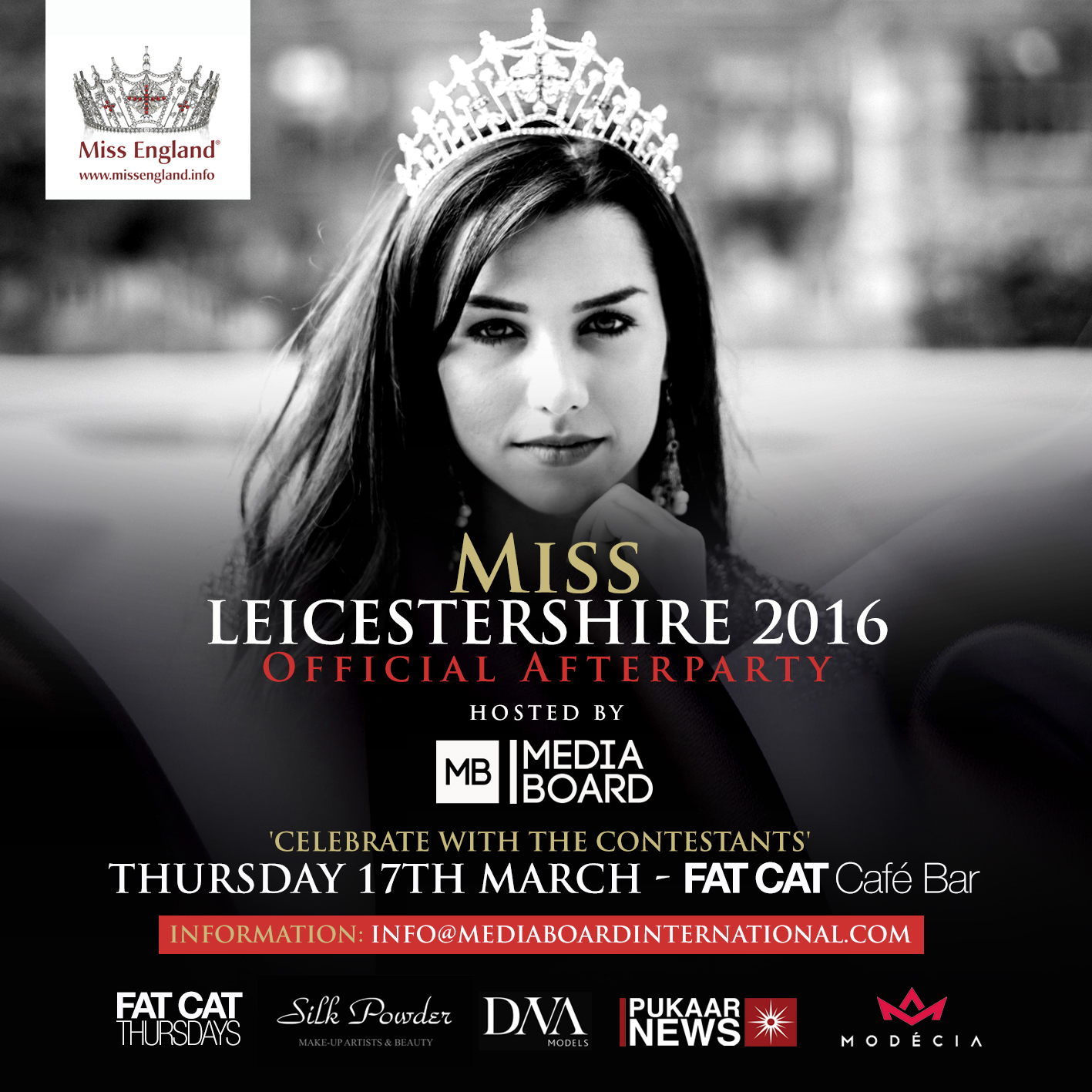 Media Board host Miss Leicestershire 2016 Afterparty