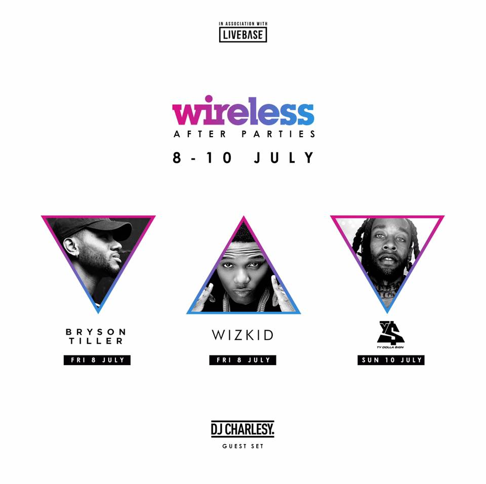 Wireless After Parties Confirmed: Bryson Tiller, Wiz Kid, TY Dolla $ign