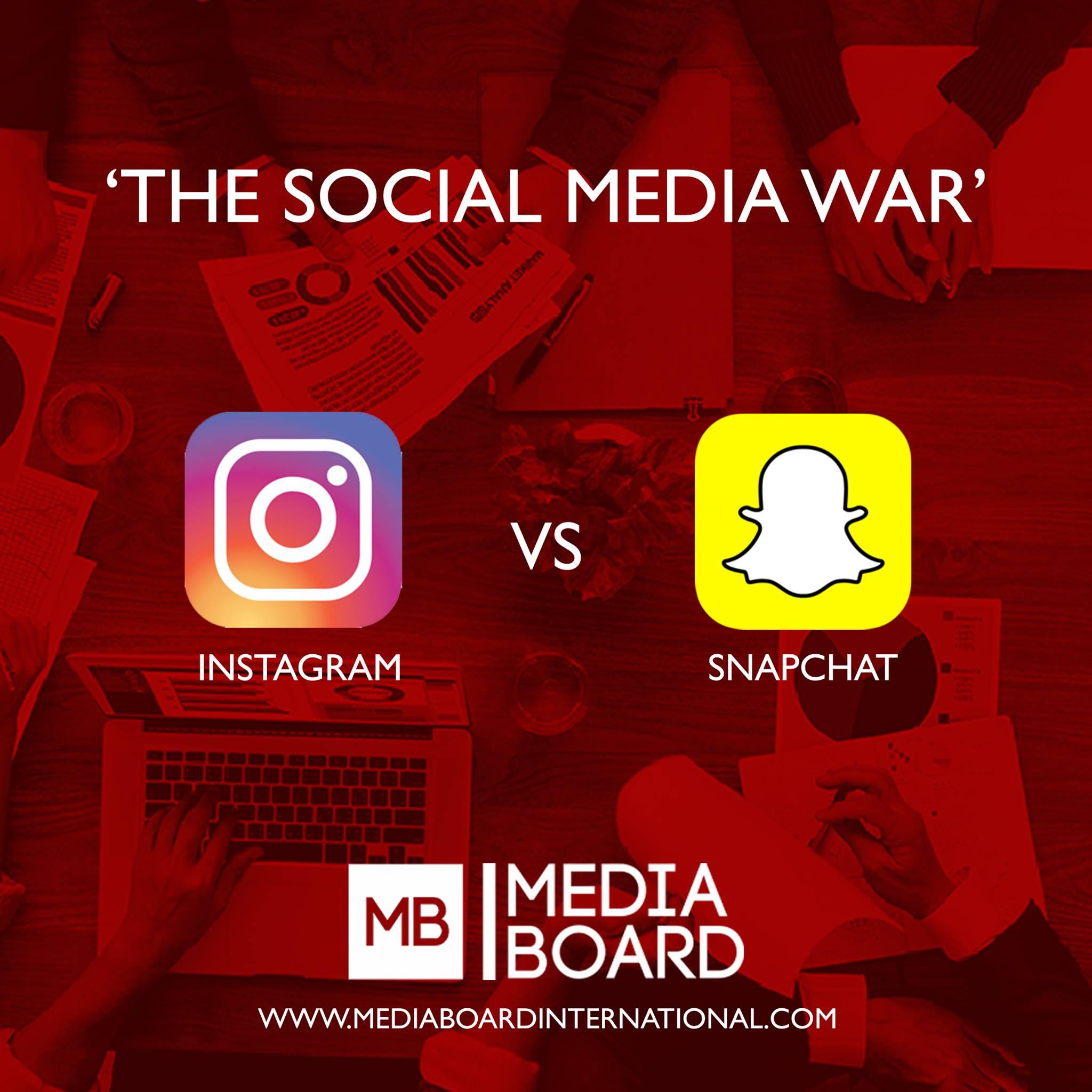 Instagram vs Snapchat – The Social Media War!